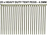 20 x HEAVY DUTY 9 TENT PEGS - 23CM x 4.5MM - MADE FROM...