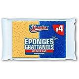 Spontex  Eponges Combinés Grattantes  4 Eponges Grattantes Stop Graisse  Lot de 2