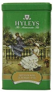 Hyleys Tea English Loose Green Tea, 4.4-Ounce Tin (Pack of 4)