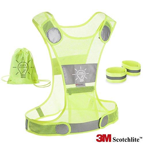 awardpedia high safety security visibility reflective reflector vest gear biking running jogging. Black Bedroom Furniture Sets. Home Design Ideas