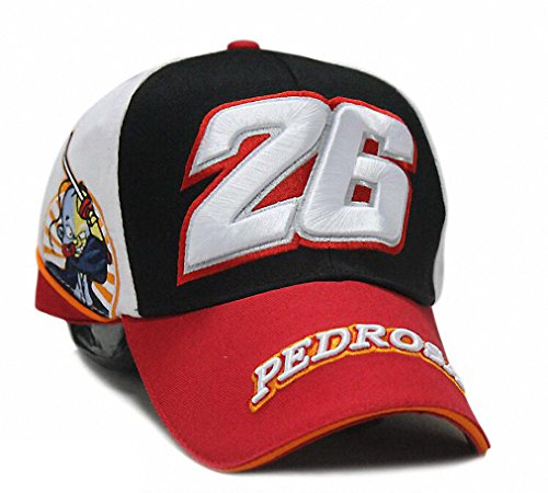 MotoGp-26-Dani-Pedrosa-Snapback-Cap-Casquette-de-Baseball-Bonnet-Chapeau-Broderie