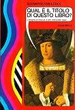 Qual è il titolo di questo libro? L'enigma di Dracula e altri indovinelli logici (8808054225) by Raymond Smullyan