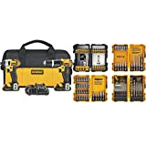 DEWALT 20V MAX Impact Driver and Hammer Drill Combo Kit (DCK285C2) with DEWALT DWA2FTS100 Screwdriving and Drilling Set, 100 Piece (Tamaño: 2-Tool)