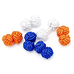 Summer Silk Knot Cuflinks