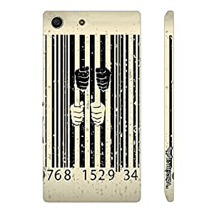 Sony Xperia M5 Behind Bars designer mobile hard shell case by Enthopia