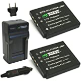 Wasabi Power Battery and Charger Kit for Pentax D-LI68, D-LI122 and Pentax Q, Q10, Optio A36, Optio S10, Optio S12, Optio VS20