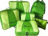Amcatch 6 Set Packing Cubes Travel Organizers + Versatile Pouch Laundry Bag - Eco Cube