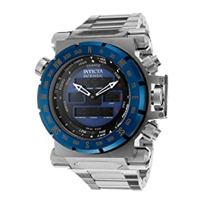 Invicta Men's 13078 Intrinsic Analog-Digital Display Swiss Quartz Silver Watch