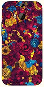 Amazing multicolor printed protective REBEL mobile back cover for HTC One M8 ( M8 ) D.No.N-L-15034-M8