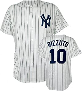 Phil Rizzuto New York Yankees Pinstripe Cooperstown Replica Jersey by Majestic