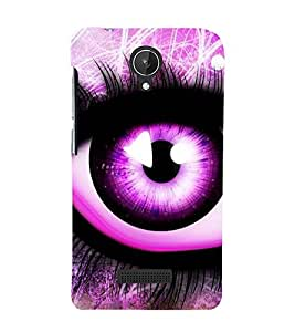 Fuson Premium Back Case Cover Animated eye With yellow Background Degined For Micromax Canvas Spark Q380
