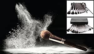 Best Makeup Brush Set - 18 Professional Makeup Brushes with Trendy Coffee-Color Cosmetic Bag Case - A Flawless Makeup Application Starts with the Best Tool Kit!