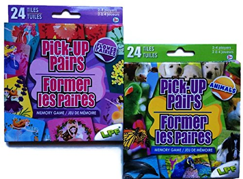 Pick-Up Pairs Memory Matching Games for Preschoolers with Flower Fairies and Animals