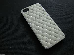 IMPRUE NEW GREEN LEATHER TEXTURE WITH DIAMOND LOOK ON BACK CASE COVER FOR IPHONE 4/4S