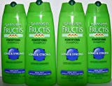 Garnier Fructis Forrtifying Shampoo Long & Strong for Weak Split Difficult to Grow Hair (Pack of 4)