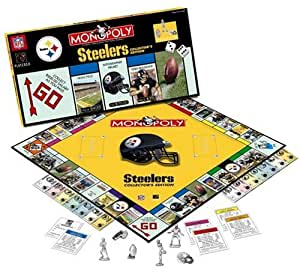 Amazon com pittsburgh steelers monopoly game toys amp games