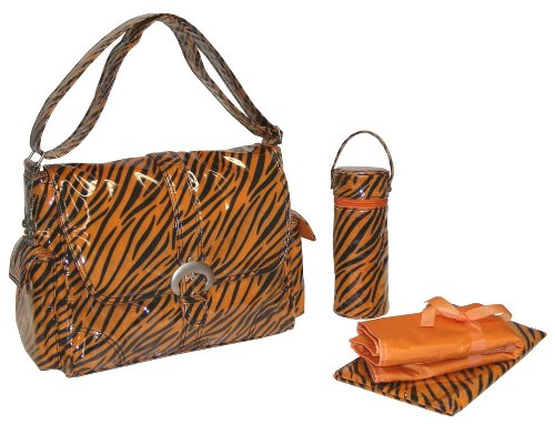 Kalencom A Step Above Buckle Bag, Tiger Fur/Black Orange