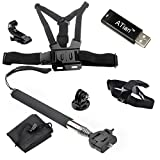 ATian(TM) Chest Harness & Head Strap Mount & Monopod Tripod Adapter for Gopro Hd Hero 1 2 3 3+