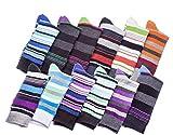 Mens Pattern Dress Socks Cotton Blend Colorful Bright Size 10-13 (12 Pair) 2900