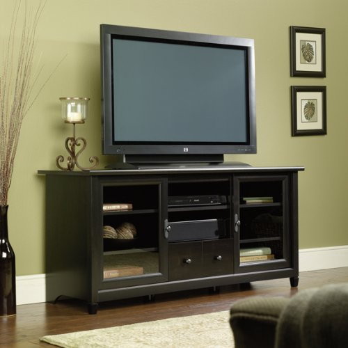 Sauder Edge Water Entertainment Credenza, Estate Black