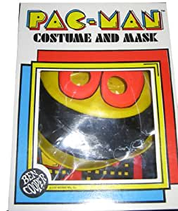 Vintage 1980 Ben Cooper Costume and Mask - Pac-Man - Small (4-6) Fits Child 41 to 46 inches tall