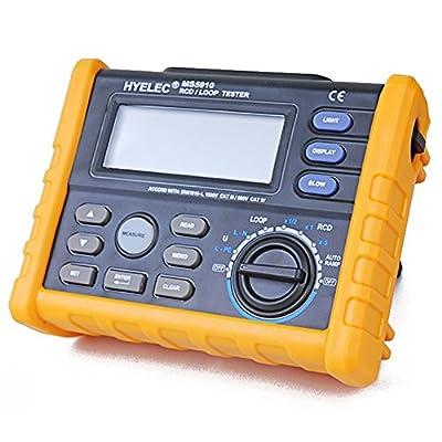 HYELEC MS5910 RCD Loop Tester Circuit Multimeter fr GFCI Loop Resistance Testing