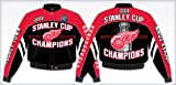 Detroit Red Wings 2008 Stanley Cup Championship Twill Jacket Size: Medium by NYC Leather Factory Outlet