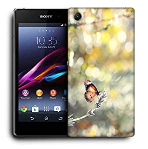 Snoogg Climbing Butterfly Printed Protective Phone Back Case Cover For Sony Xperia Z4