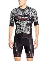 JOLLYWEAR Maillot Ciclismo Sarto (Negro / Blanco)