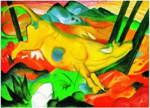 Cheap Ricordi Franz Marc: The Yellow Cow – 1000pc Jigsaw Puzzle by Ricordi (B002RWJIZ2)