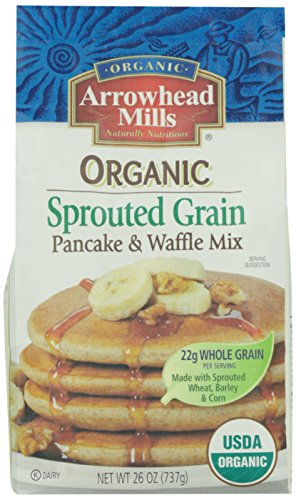 Arrowhead Mills Organic Sprouted Grain Pancake And Waffle Mix, 26 Ounce