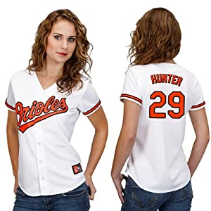 Tommy Hunter Baltimore Orioles Home Ladies Replica Jersey by Majestic by Majestic
