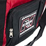 """Red Nascar Duffle Bag 15"""" Large Pocket Adjustable Shoulder Strap Luggage CarryOn"""