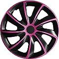 15 Zoll Radzierblenden / Radkappen Quad Pink 15