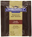 Ghirardelli Premium Hot Cocoa, Double Chocolate, 1.5-Ounce Envelopes (Pack of 15)