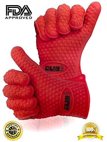 ♛ Best Pot Holders ★ 2 High Heat Resistant Cooking Mitts ★ Work For Smoking, Baking, Grilling, Camping, Barbecue, Kitchen , Oven, Fireplace, Microwave And More ★ Perfect As Barbeque Gloves, Silicone Oven Mitt Or Working Gloves★ Easy To Remove And Clean Bb