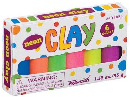 Neon Mini Clay Set Party Accessory