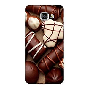 Special Chocolate Sweets White Brown Back Case Cover for Galaxy A7 2016
