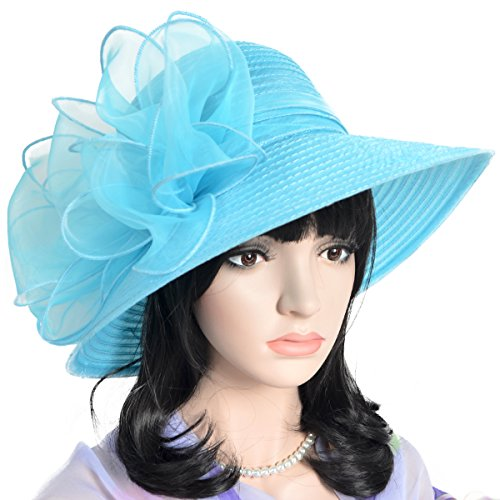 Fanny Cloche Oaks Church Dress Bowler Derby Wedding Hat Party S015