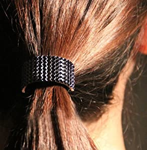 Ponytail Holder (Color: Black),Hair Ponytail Holder Tie,Metal Hair Accessory,Hair Band Holders,Scarf Holder,Industrial Hair Accessories,Steampunk.H154868
