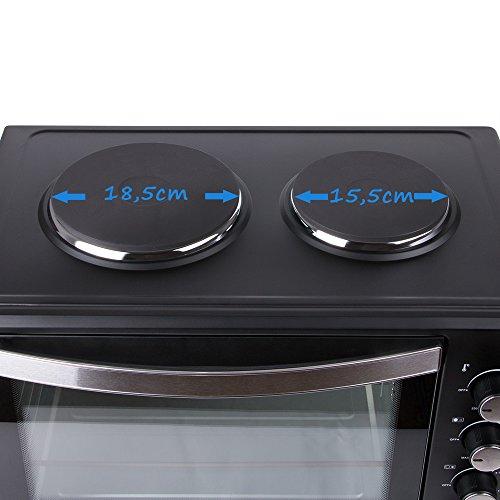 45 Liter 3200 Watt Mini Backofen Mit Kochplatten Drehspiess Und