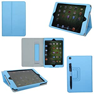 ProCase iPad mini Case - Flip Stand Leather Cover Case for Apple iPad mini 7.9-Inch Tablet auto sleep /wake feature (Blue)