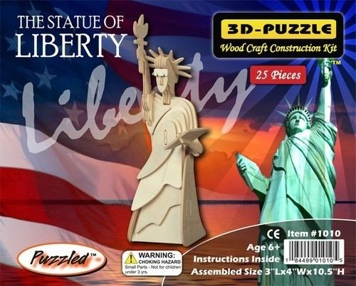 The Statue of Liberty 3D Wooden Puzzle Wood Construction Kit - 1