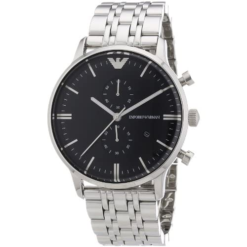 Emporio Armani Men's Quartz Watch AR0389 AR0389 with Metal Strap