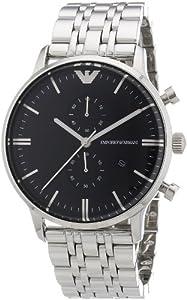 Emporio Armani Herren-Armbanduhr XL Chronograph Quarz Edelstahl AR0389