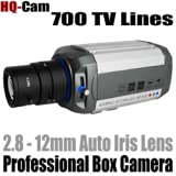 """HQ-Cam® Security Surveillance Box Camera - 700 TV Color Lines High Resolution 1/3"""" Sony Super HAD II CCD 2.8-12mm... by Q1C1"""