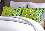 Home Ecstasy 100% Cotton 104TC Printed Green Pillow Cover Pair