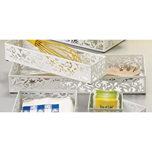Design Ideas Vinea Storage Drawer, 6 by 15-Inch, White at Sears.com