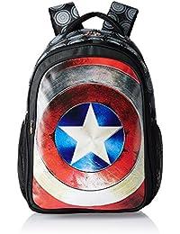 Captain America Nylon 48 Cms Black Children's Backpack (MBE-WDP0526)