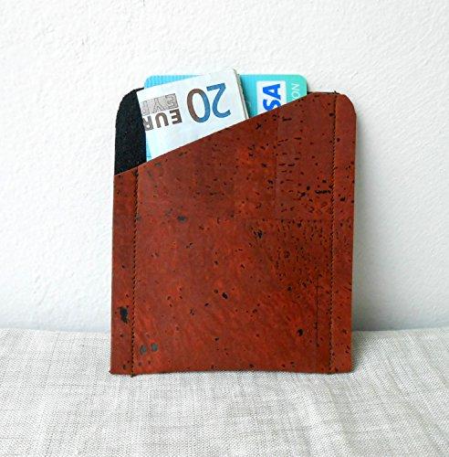 Cork-Leather-Card-Holder-Cork-Card-Wallet-Credit-Card-Wallet-Mens-Wallet-Mens-Anniversary-Gift